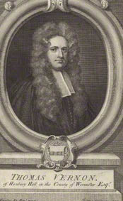 by George Vertue, after Sir Godfrey Kneller, Bt, line engraving, published 1726