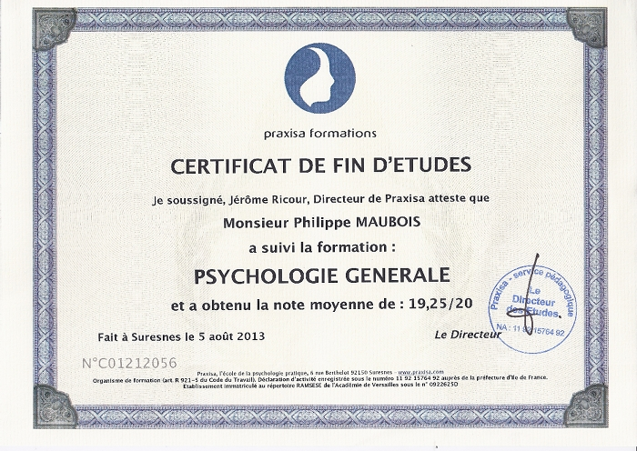 Diplome psy generale